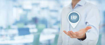 Enterprise resource planning ERP Stock Photo