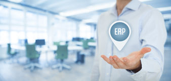Enterprise resource planning ERP Royalty Free Stock Photo
