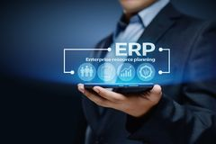 Enterprise Resource Planning ERP Corporate Company Management Business Internet Technology Concept royalty free stock photography