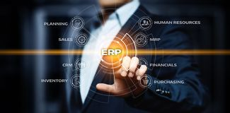 Enterprise Resource Planning ERP Corporate Company Management Business Internet Technology Concept Stock Photo