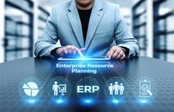 Enterprise Resource Planning ERP Corporate Company Management Business Internet Technology Concept.  royalty free stock images