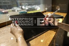 Enterprise resources planning business and technology concept. Stock Photos
