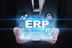 Enterprise resources planning business and technology concept. stock photography