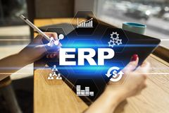 Enterprise resources planning business and technology concept. royalty free stock photography