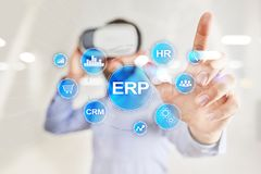 Enterprise resources planning business and technology concept. royalty free stock photo