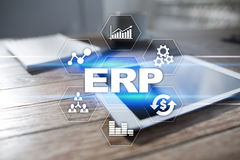 Enterprise resources planning business and technology concept. Royalty Free Stock Images