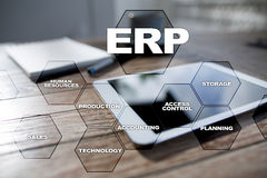 Enterprise resources planning business and technology concept. Royalty Free Stock Image
