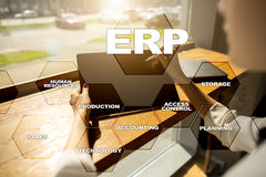 Enterprise resources planning business and technology concept. Enterprise resources planning business and technology concept Stock Photos