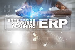 Enterprise resources planning business and technology concept. Enterprise resources planning business and technology concept Stock Images