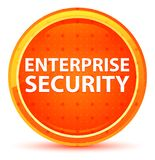 Enterprise Security Natural Orange Round Button royalty free illustration