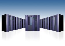 Enterprise server farm Stock Photos