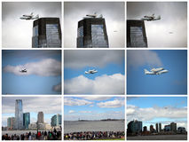 Enterprise Space Shuttle. Last voyage of the Enterprise space shuttle, on it's way to retirement at the Intrepid museum in Manhattan Stock Photography