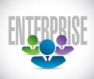 Enterprise team sign illustration design graphic. Over white Royalty Free Stock Photo