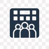 Enterprise vector icon isolated on transparent background, Enter royalty free illustration