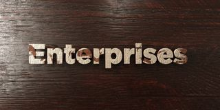 Enterprises - grungy wooden headline on Maple  - 3D rendered royalty free stock image Stock Photography