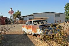 Car and  dummy in Seligman Route 66