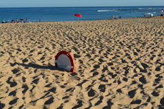 Enterrado en la arena Fotos de archivo