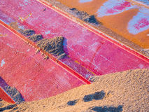 Enterrado na areia Imagens de Stock