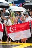 Enterrement de Lee Kuan Yew, ancien premier ministre Singapore Image stock
