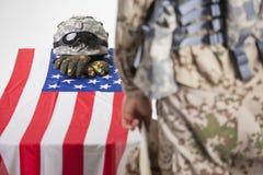 Enterrement militaire photo stock