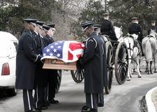 Enterrement militaire au cimetière d'Arlington Photographie stock libre de droits