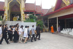 Enterrement thaïlandais image libre de droits