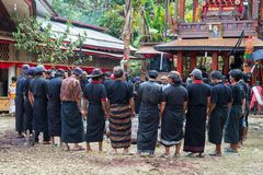 Enterrement traditionnel en Tana Toraja Photographie stock libre de droits
