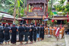 Enterrement traditionnel en Tana Toraja Photos libres de droits