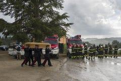 Enterrements de tremblement de terre d'Amatrice et d'Accumuli Image stock