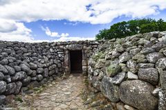Enterro do monte de pedras de Kivik imagens de stock