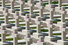 Enterro polonês no cemitério de Lychakiv em Lviv Imagens de Stock Royalty Free