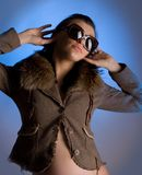 Entertaiment. An image of a young woman in sunglasses Stock Photos