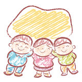 Entertain the children sing. Home and Family Character Design Se Stock Image