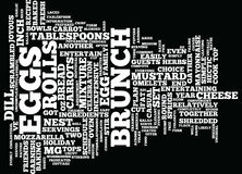 Entertain Easily At Brunch Text Background Word Cloud Concept royalty free illustration