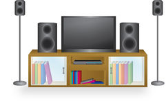 Entertain me. Illustration of an entertainment unit stock illustration