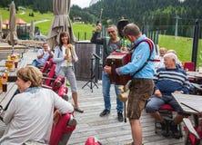 Entertainer in Ehrwald Royalty-vrije Stock Afbeelding