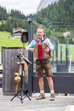 Entertainer in Ehrwald. Entertainer in a restaurant in Ehrwald Royalty Free Stock Images