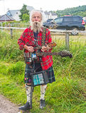 Entertainer at Grantown on Spey Show. Scotsman Entertainer at Grantown on Spey agricultural show held on 10 th August 2017 royalty free stock photos