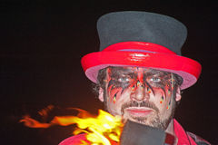 Entertainer at Hogmanay Celebrations. . Royalty Free Stock Photos