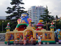 Entertaining attraction in Yalta. Entertaining inflatable attraction in Yalta royalty free stock image