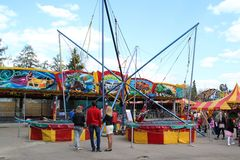 Entertaining attractions. Moscow. ENEA. Rides in the park Royalty Free Stock Images
