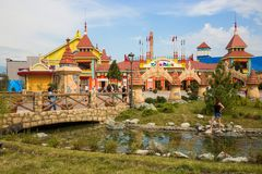 Entertaining centre of Sochi park. In Adler in Russia on 5.07.2014 Stock Image