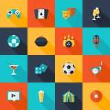 Entertaining Icons Set Royalty Free Stock Image