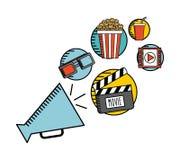 Entertaining movie Stock Image