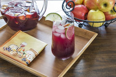 Entertaining with refreshing red sangria Stock Image
