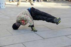 Entertaining street performer,Boston,2014 Stock Photo
