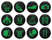 Entertainment. And leisure related black icon set Royalty Free Illustration