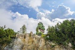 Entertainment and adventure at Triassic Parc Beach on Steinplatte, Austria Stock Photo