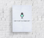 Entertainment Audio Multimedia Podcast Graphic Concept Stock Photo