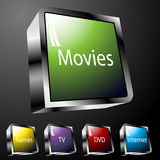 Entertainment Buttons Stock Image